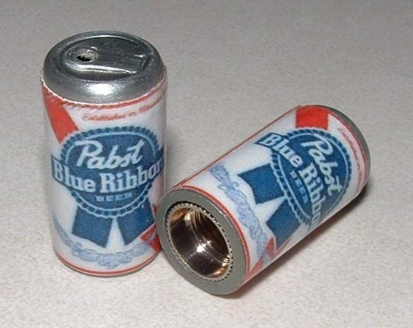 Pabst Blue Ribbon PBR Can Valve Caps by Willinois on Zibbet 780db572c
