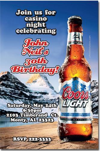 Corona Beer Birthday Invitations *download JPG immediately*
