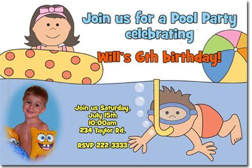 Pool Party Birthday Invitations (Download JPG Immediately)