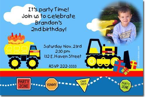 Tonka Truck Birthday Invitations *click for add'l* (download jpg NOW)