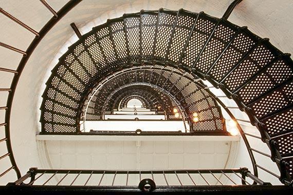 Ordinaire The Saint Augustine Lighthouse Stairs On Floridau0027s East Coast Nautical Fine  Art