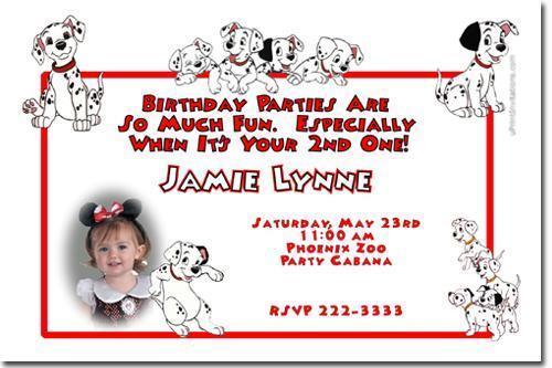 101 Dalmations Birthday Invitations (Download JPG Immediately)