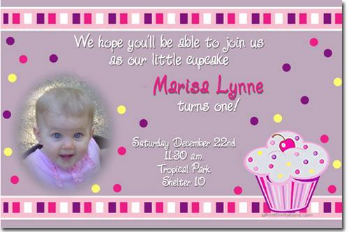 Cupcake Birthday Invitations *ANY AGE/COLOR* Download JPG Immediately