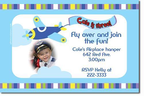 Airplane Birthday Invitations (click for add'l designs) (Download JPG)