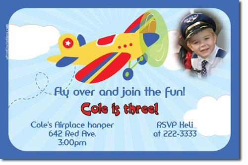 Airplane Birthday Invitations click for by uPRINTinvitations on