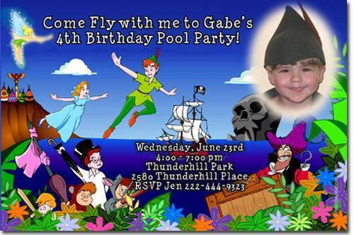 Peter pan birthday birthday invitations by uprintinvitations on zibbet peter pan birthday birthday invitations download jpg immediately filmwisefo