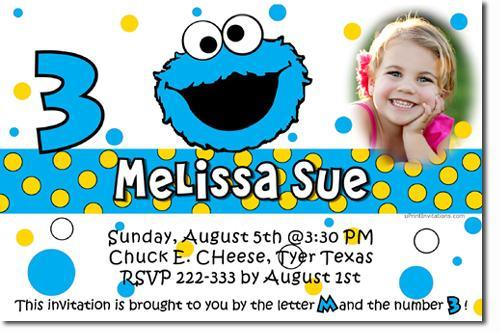 Cookie Monster Birthday Invitations Download Jpg Immediately