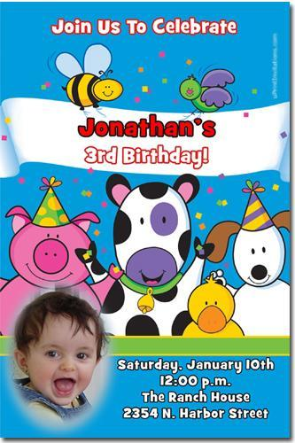 Barnyard Birthday Invitations click for add'l designs Download JPG NOW