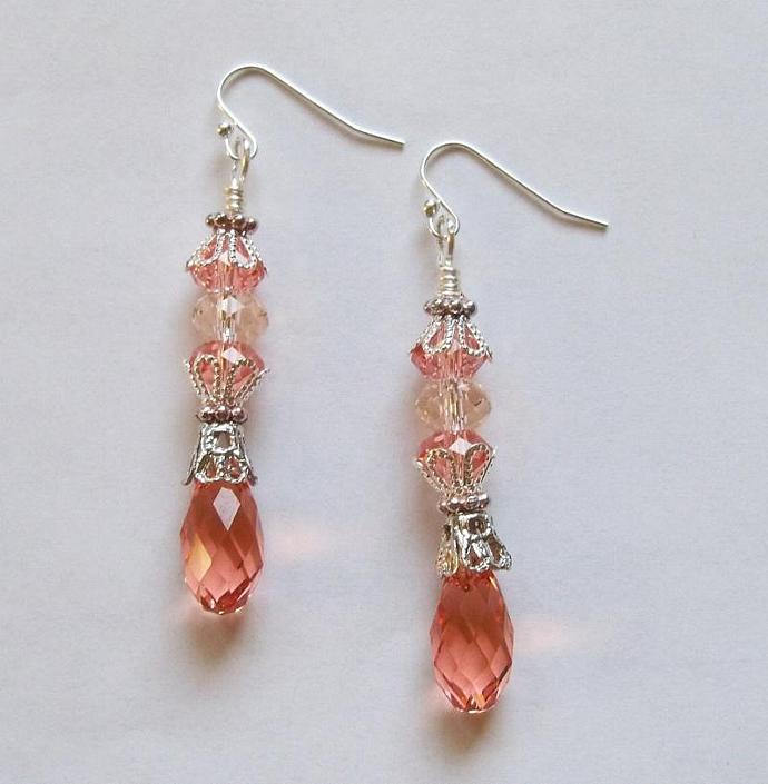 "Earrings - ""Peach Bliss"""