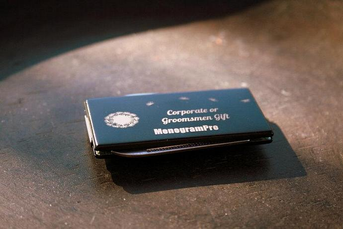 Personalized Black 2 Tool Money Clip