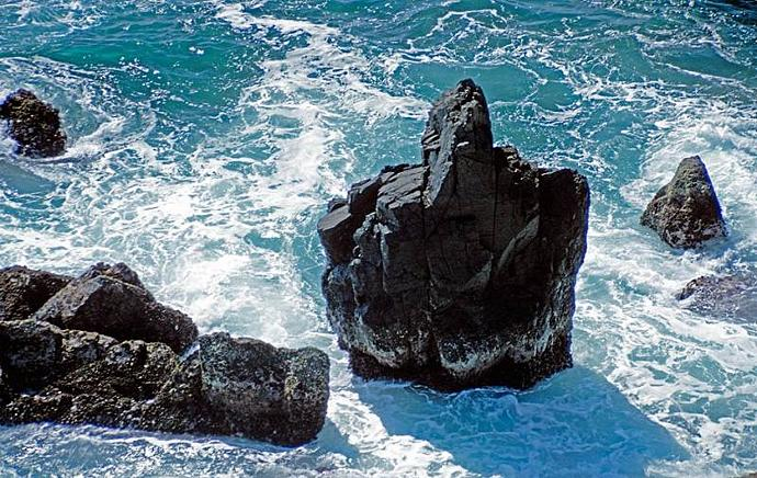Natural Rock Formation that is  Portraying a Negative Greeting