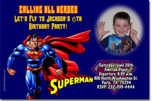 superman birthday invitations  download by
