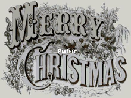 Merry Christmas. Counted Cross Stitch Pattern. PDF Files. Free shipping.