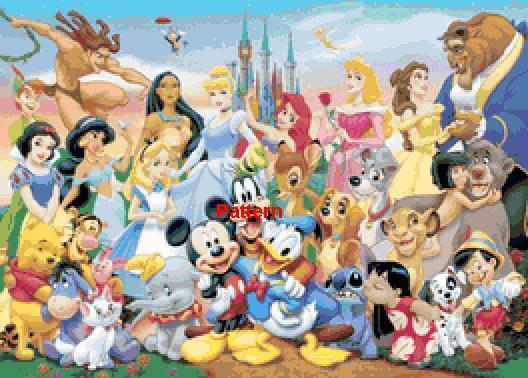 Disney Heroes. Counted Cross Stitch Pattern. PDF Files.