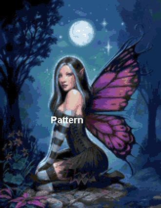 Fairy.  Cross Stitch Pattern. PDF Files. Free shipping.