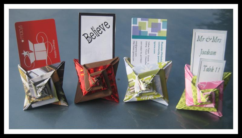 Origami Spiral Event Place Card Holders By Platypuscrafts On Zibbet