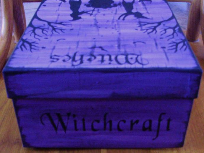 Witchcraft Witches spells spell box magic Halloween decorations wiccan pagan