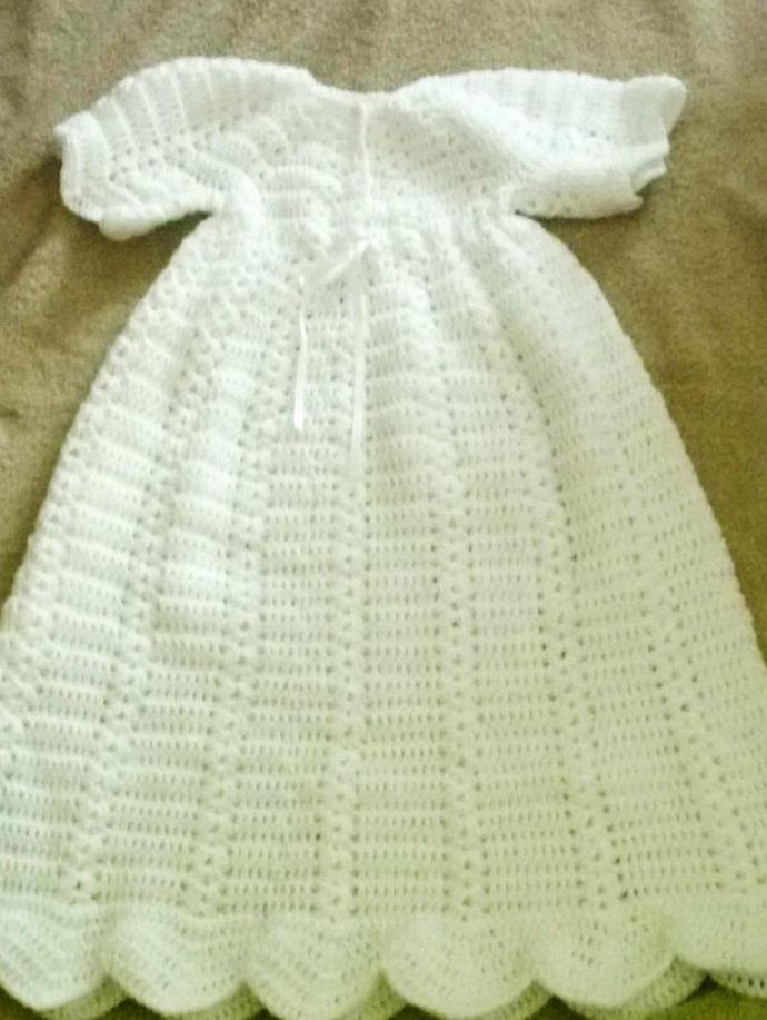 Crochet Christening Gownbootiescapwrap By Hooksnyarn On Zibbet