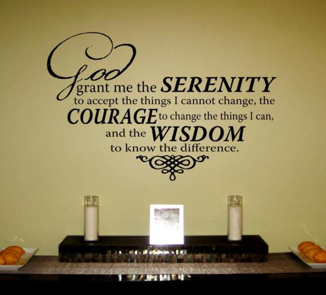Serenity Prayer Vinyl Wall Art Decal by designstudiosigns on Zibbet