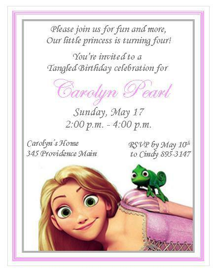Rapunzel Tangled Personalized Invitations by thenotecardlady on Zibbet