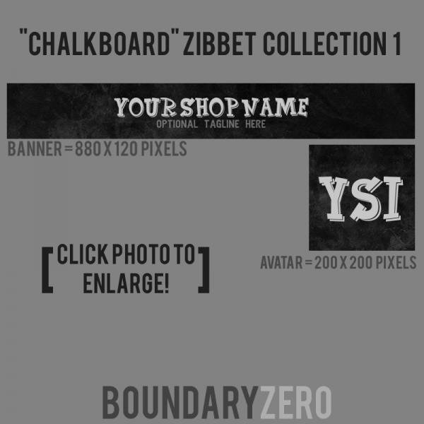 """""""Chalkboard"""" Zibbet Collection (Size 1)"""