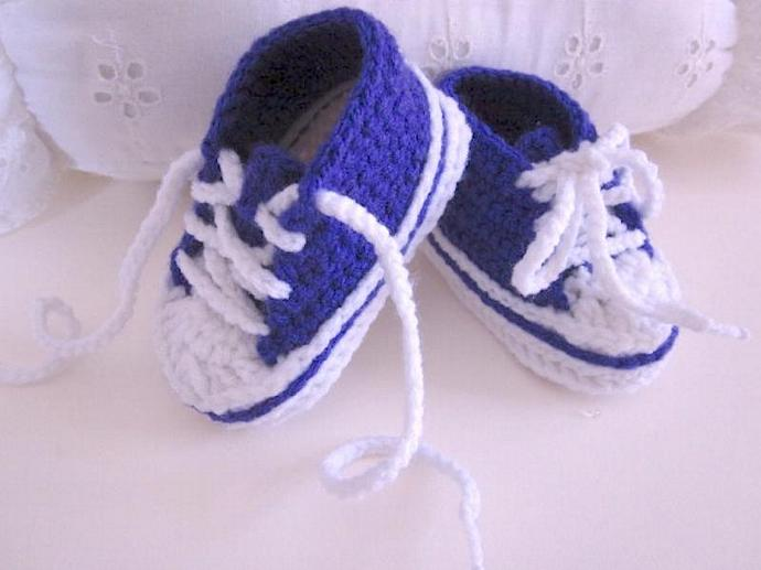 Purple Baby Bootie Sneakers for Boys and Girls