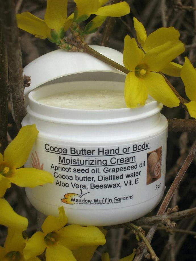 Hand Cream in a Jar, Cocoa Butter Moisturizer, hand or body