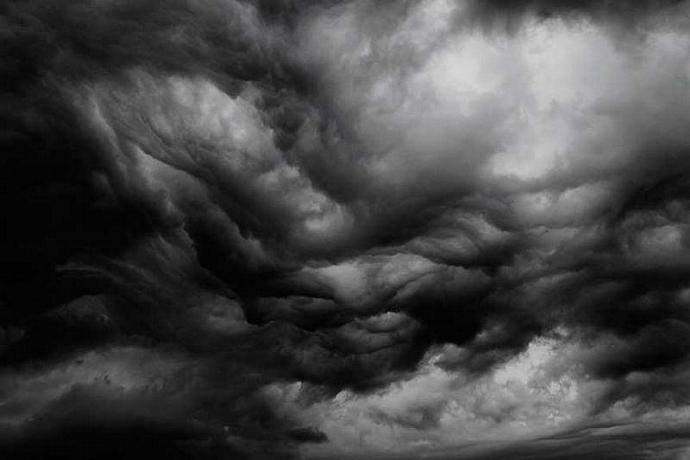 An Angry Sky in Black and White Fine Art Photo