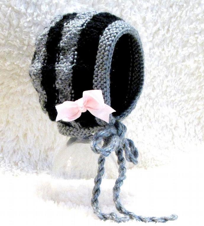 b35e7a2efe4 Knitting Bonnet Pattern - Mock Cable Baby by ezcareknits on Zibbet