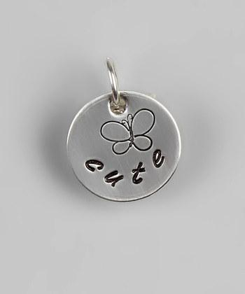 "Custom - 1/2"" Sterling Silver Butterfly Pendant"
