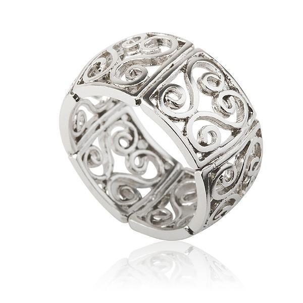Arabesque Filigree Silver Ring - Liat Waldman.