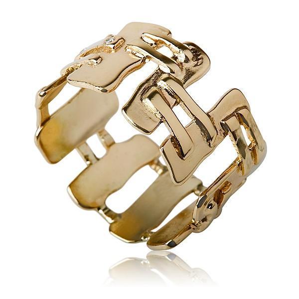 Cubism 14 kt Gold Ring - Liat Waldman