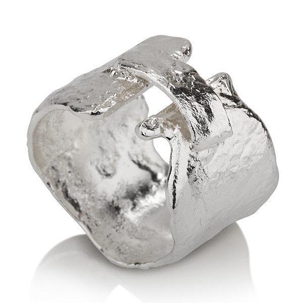 Reticulated Silver Bridge Ring - Liat Waldman