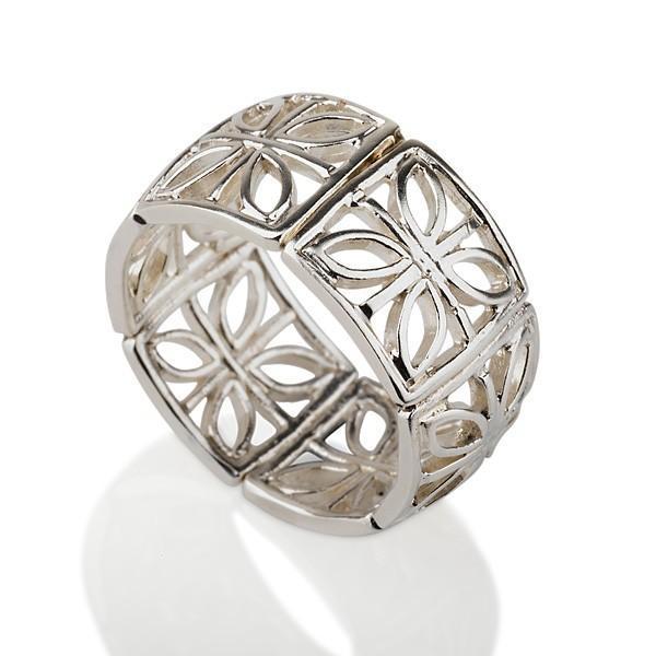 Ornament Filigree Silver Ring - Liat Waldman