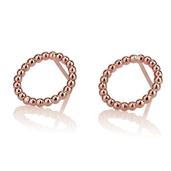 """Stud Earrings """"Avishag"""" - 14 karat red gold - Liat Waldman"""