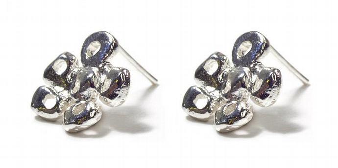 Fairytale Flower Stud Silver Earrings - Liat Waldman