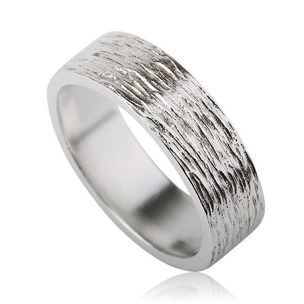 White Unisex Wedding Ring - Liat Waldman