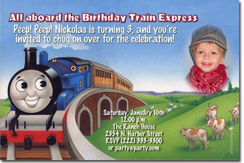 Thomas The Tank Engine Birthday By UPRINTinvitations On Zibbet
