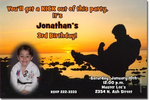 Karate Kid Birthday Invitations DOWNLOAD JPG IMMEDIATELY