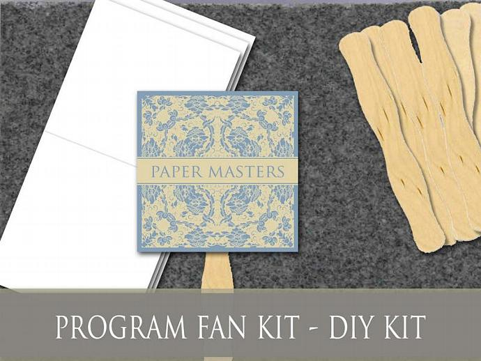 Do-it-Yourself Event Fan Kit - Set of 100