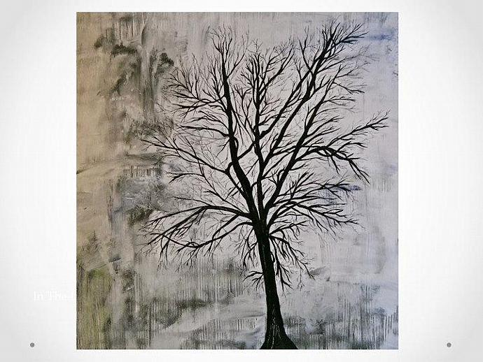Tree Silhouette - Acrylic Painting - by ...