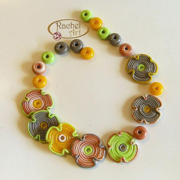 20 pcsHandmade Glass Flowers Lampwork Beads