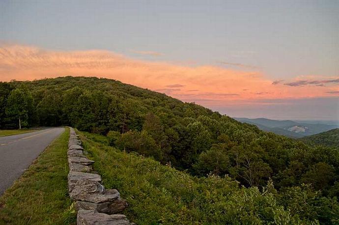 The Blue Ridge Parkway and Stone Mountain Fine Art Photo
