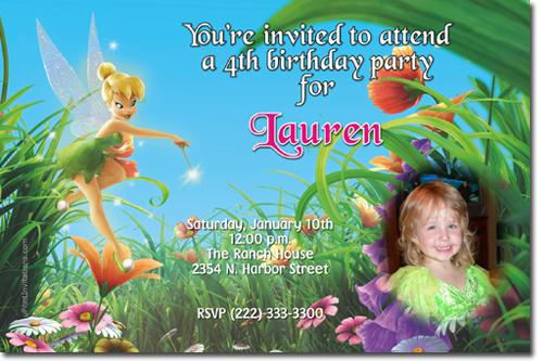 Tinkerbell Birthday Invitations by uPRINTinvitations on Zibbet