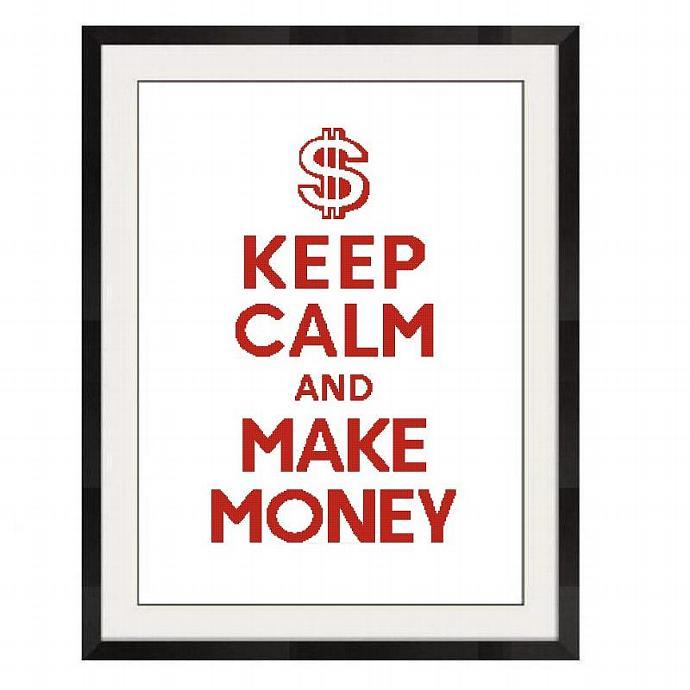 ALL STITCHES - MAKE MONEY CROSS STITCH PATTERN .PDF - PICK LARGE OR MEDIUM -404