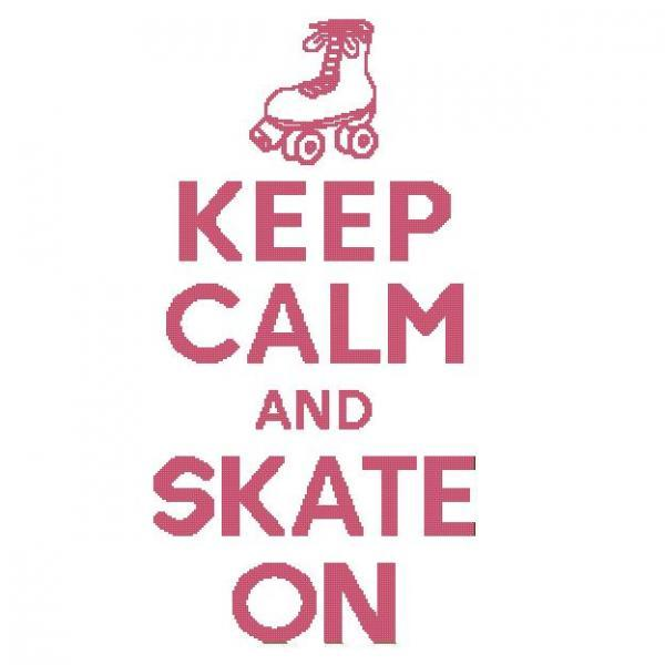 ALL STITCHES - SKATE ON CROSS STITCH PATTERN .PDF - LARGE AND MEDIUM -237