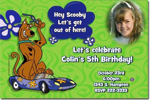 Scooby Doo Birthday Invitations **Download JPG NOW**