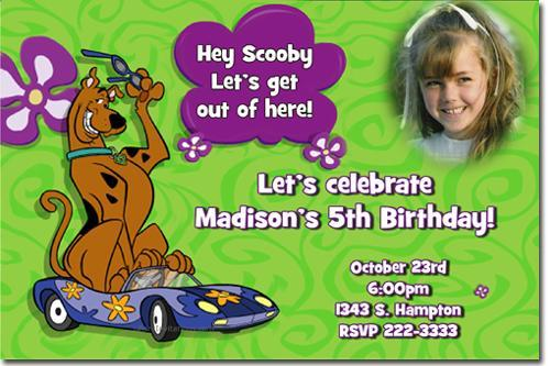 Scooby Doo Birthday Invitations **Download JPG NOW**