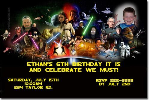 Star Wars Birthday Invitations By UPRINTinvitations On Zibbet