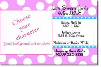 Minnie Mouse Baby Shower Invitations *DOWNLOAD JPG IMMEDIATELY**